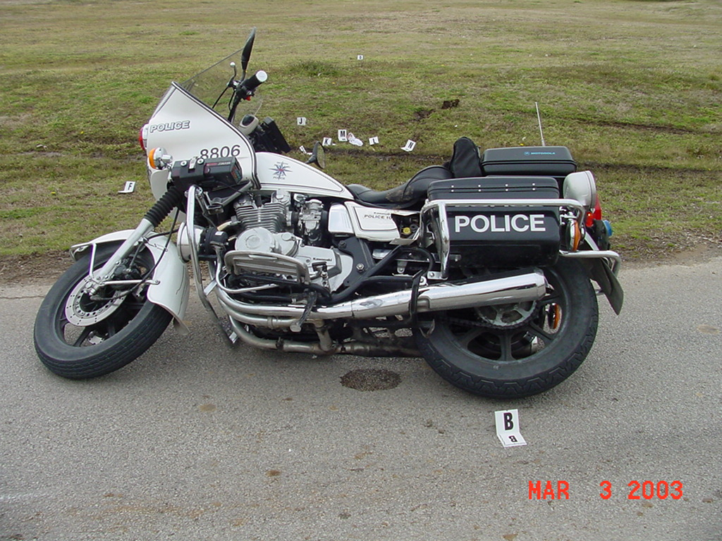 Downed Police Motorcycle